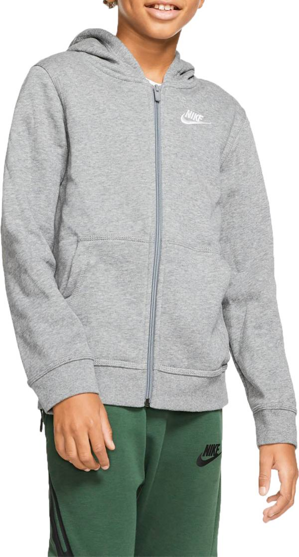 Nike Boys' Sportswear Club Cotton Full Zip Hoodie (Regular and Extended) product image