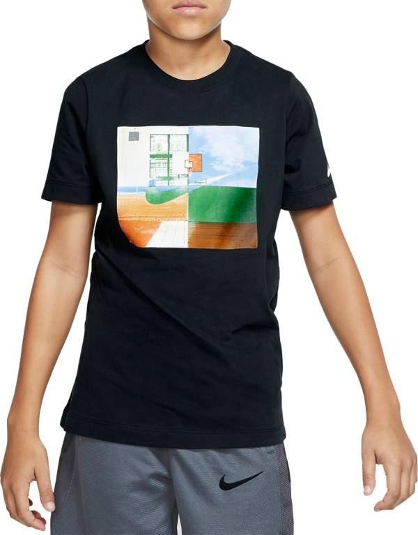 Nike Boys' Dri-FIT Hoop Photo Graphic T-Shirt product image