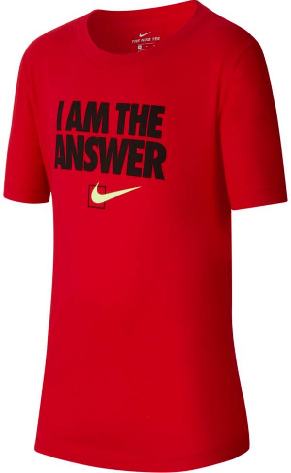 Nike Boys' Sportswear I Am The Answer Graphic T-Shirt product image