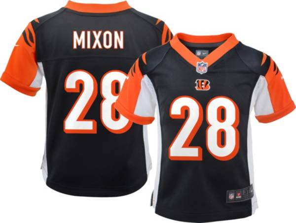 Nike Boys' Cincinnati Bengals Joe Mixon #28 Black Game Jersey product image