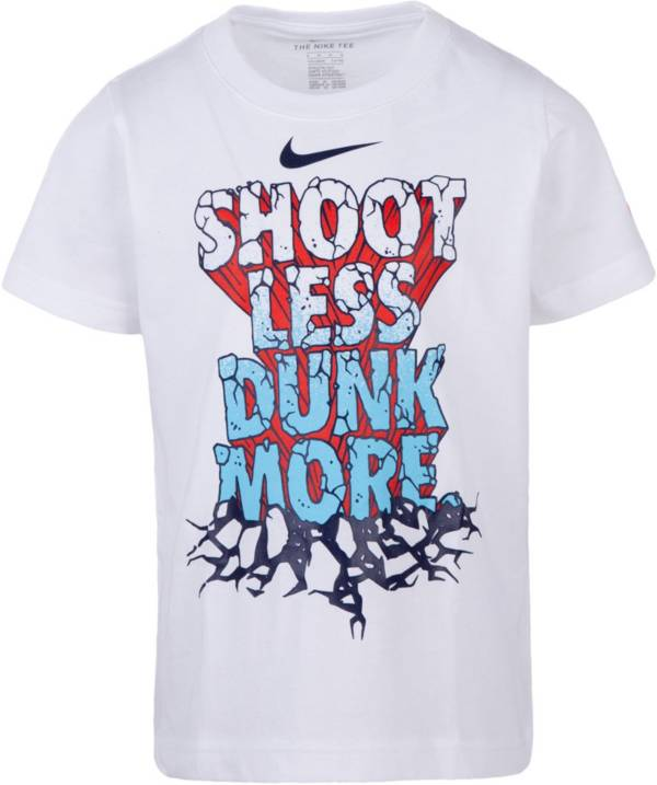 Nike Little Boys' Shoot Less Dunk More Graphic Basketball T-Shirt product image