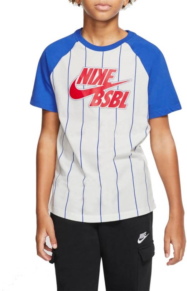 Nike Boys' Sportswear Pinstripe Baseball T-Shirt product image