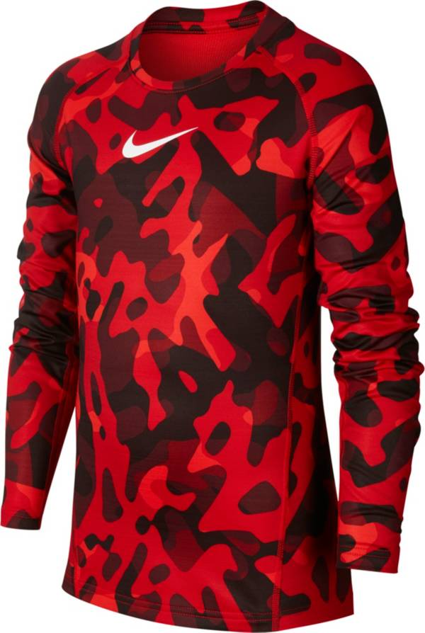 Nike Pro Boy's Printed Therma Long Sleeve Shirt product image