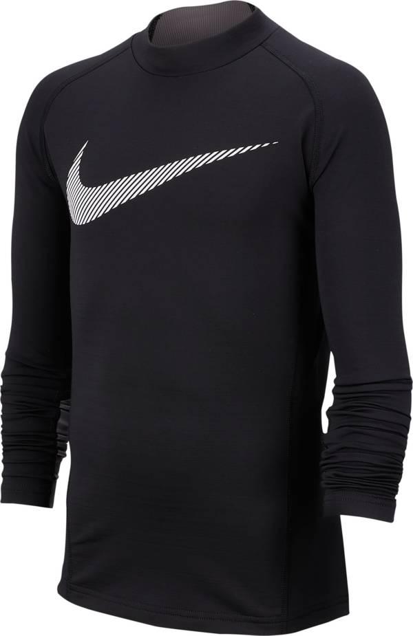 Nike Boys' Pro Warm Mock Neck Long Sleeve Shirt product image