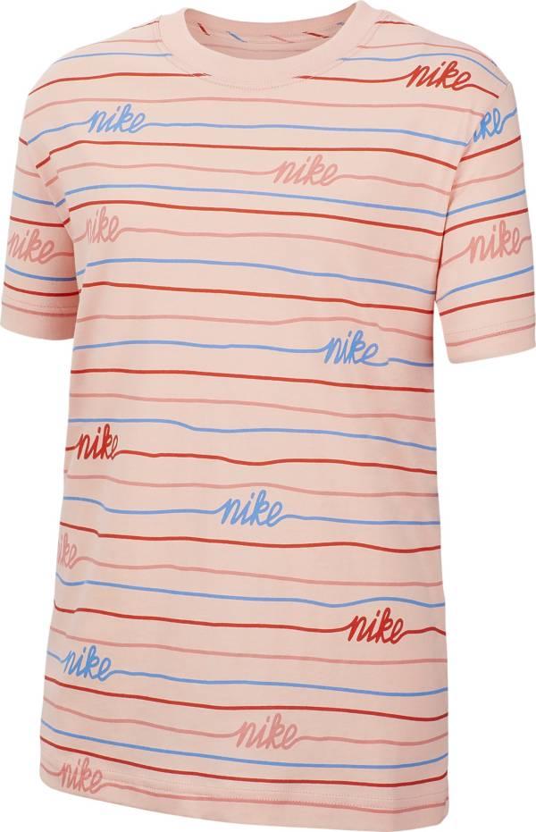 Nike Girls' Sportswear Boyfriend Printed T-Shirt product image