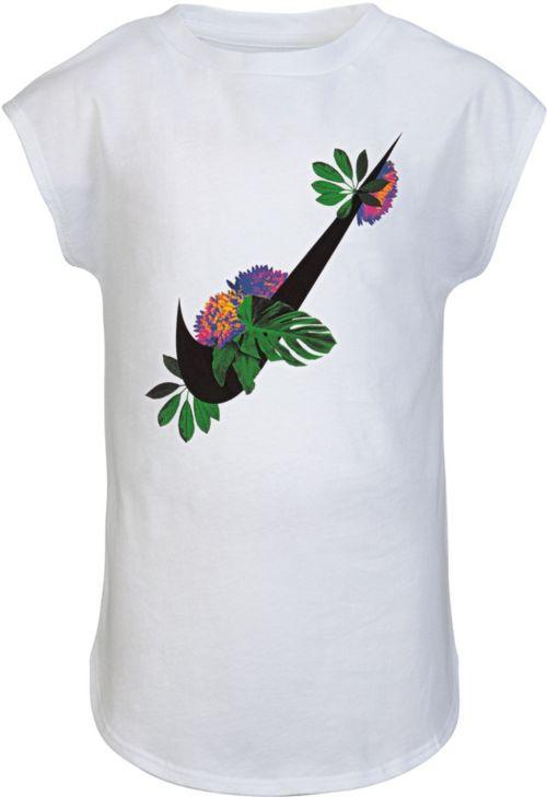 1447fbf0 Nike Little Girls' Dri-FIT Botanical Swoosh T-Shirt   DICK'S Sporting Goods