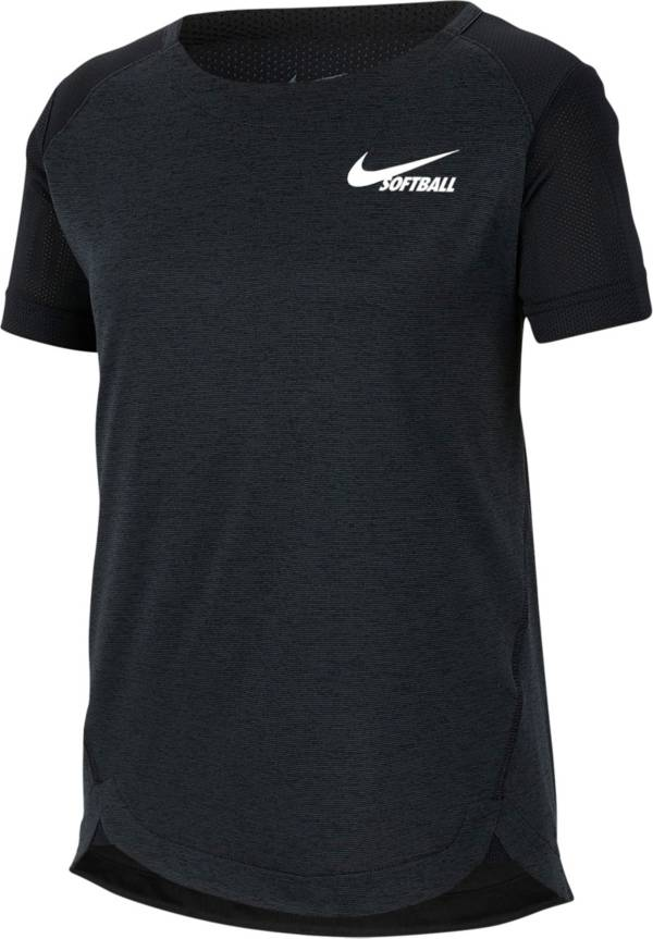 Nike Girls' Dri-FIT Short-Sleeve Softball Top product image