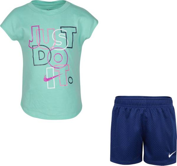 Nike Little Girls' Just Do It Glitter Graphic T-Shirt and Shorts Set product image