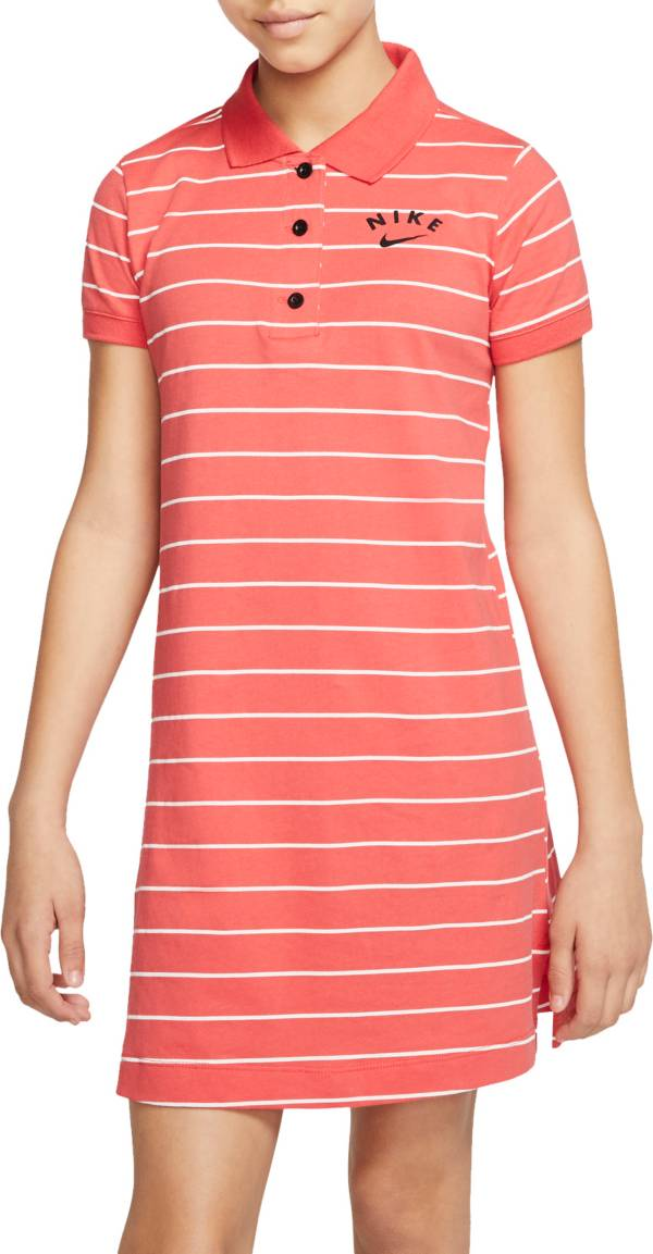 Nike Girls' Sportswear Striped Polo Dress product image