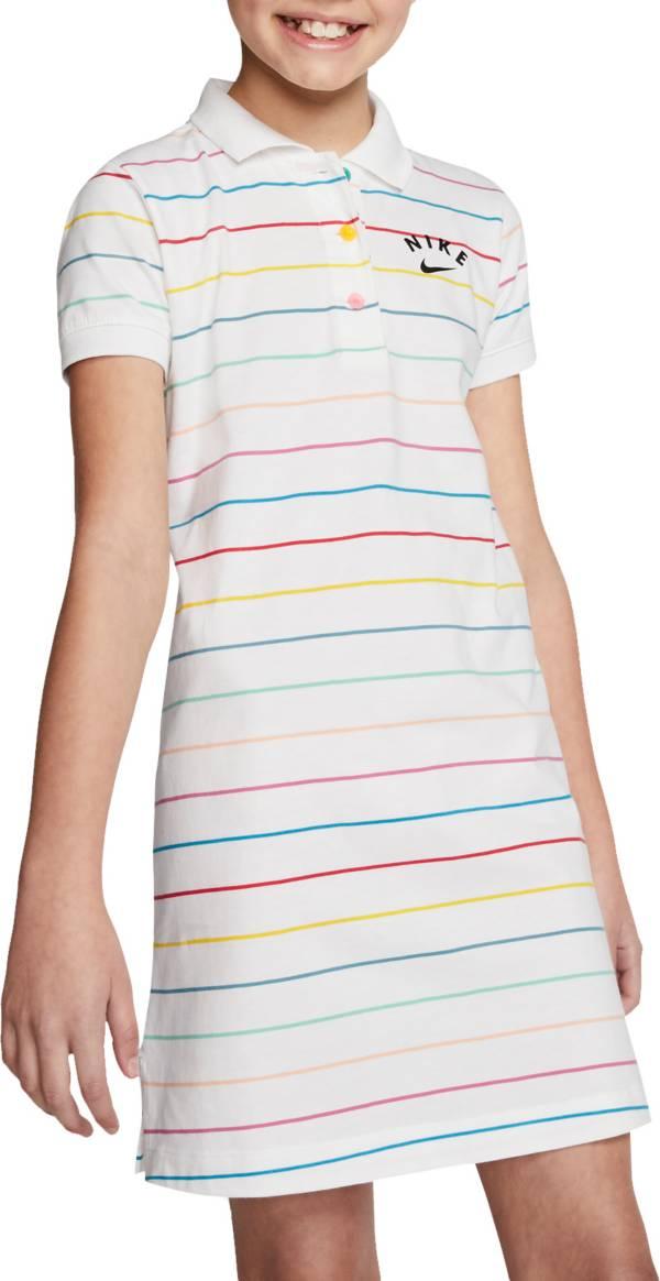 Nike Girls' Sportswear Striped Polo Dress product image