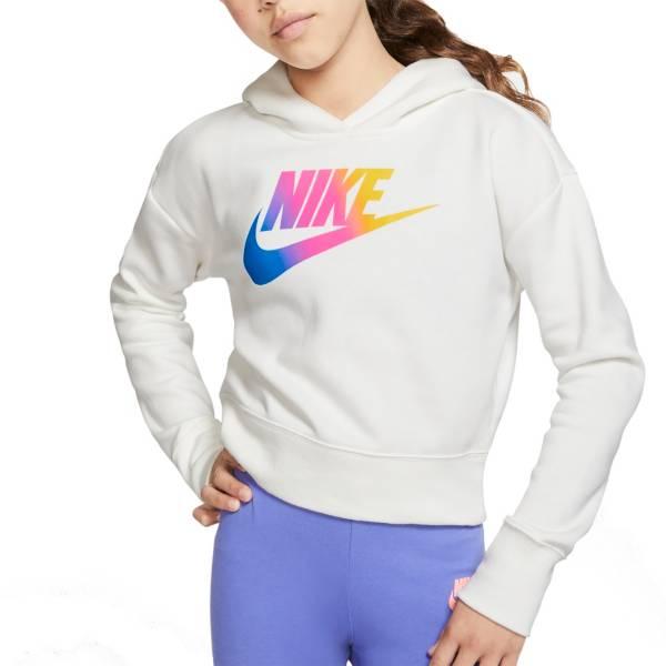 Nike Girls' Sportswear Futura Fade Cropped Hoodie product image