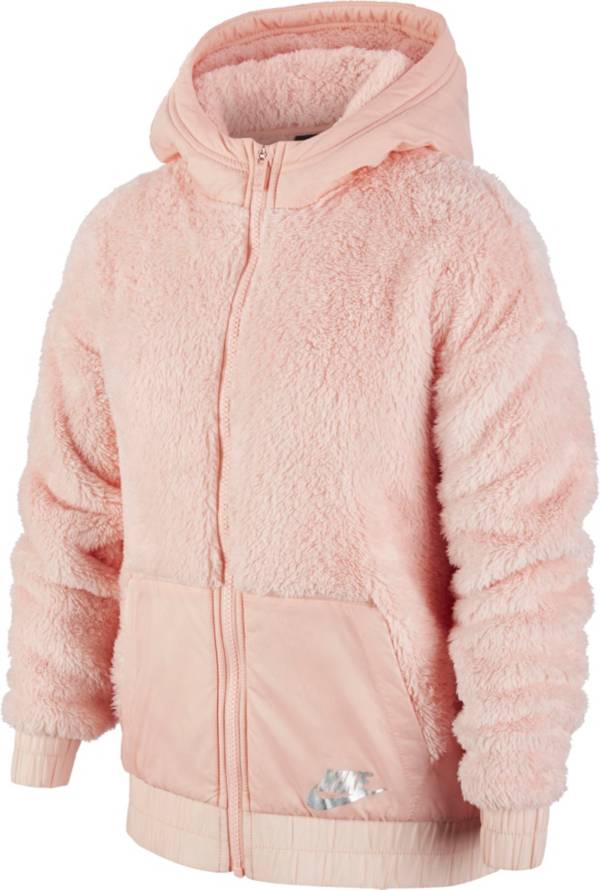 Nike Girl's Sportswear Sherpa Full-Zip Jacket product image