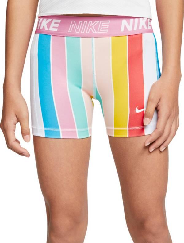 Nike Girls' Pro Striped Boyshort Shorts product image