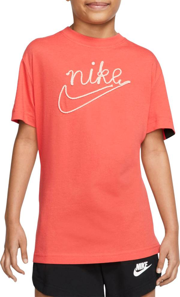 Nike Girls' Sportswear Embroidered T-Shirt product image