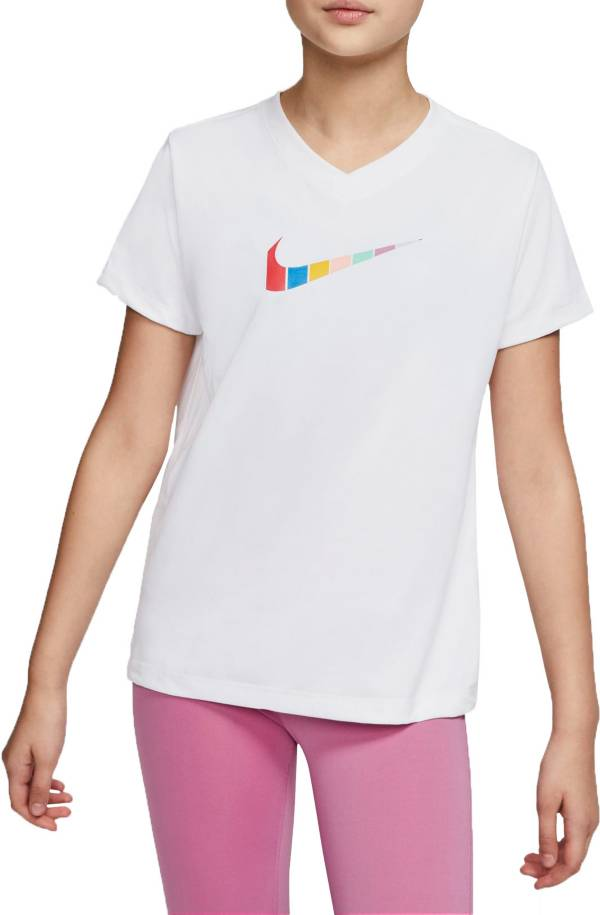 Nike Girls' Swoosh Fill Legend V-Neck T-Shirt product image