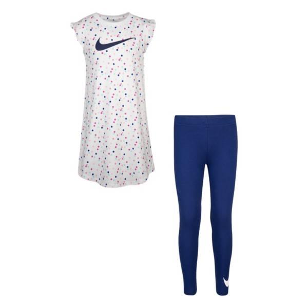 Nike Girls' Swoosh Flutter Sleeve Tunic and Leggings Set product image