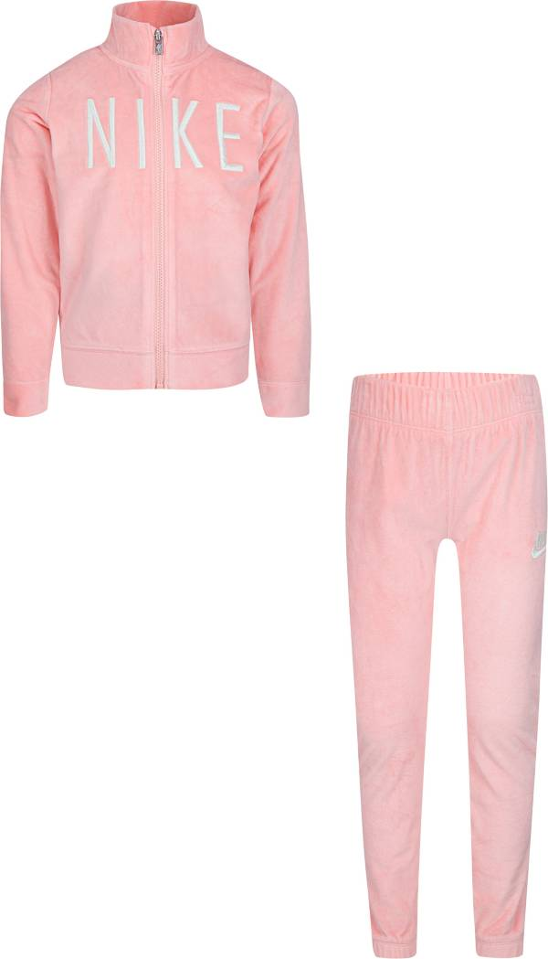 Nike Little Girls' Sportswear Velour Zip Jacket and Joggers Set product image