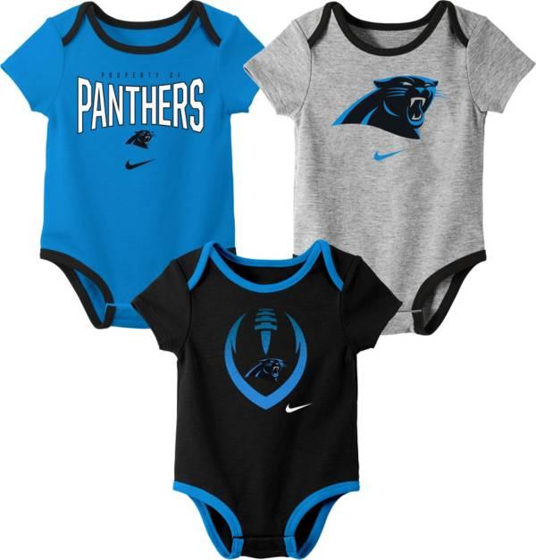 Nike Infant Carolina Panthers Icon 3-Pack Bodysuit product image