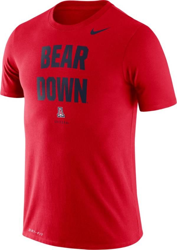 Nike Men's Arizona Wildcats Cardinal Dri-FIT 'Bear Down' T-Shirt product image