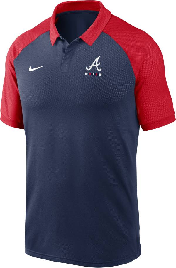 Nike Men's Atlanta Braves Navy Dri-FIT Legacy Raglan Polo product image