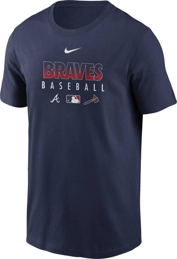 Nike Men's Atlanta Braves Navy Dri-FIT Baseball T-Shirt product image