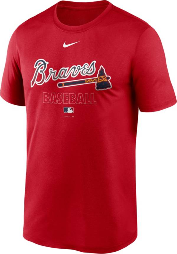 Nike Men's Atlanta Braves Red Authentic Collection Legend Dri-FIT T-Shirt product image