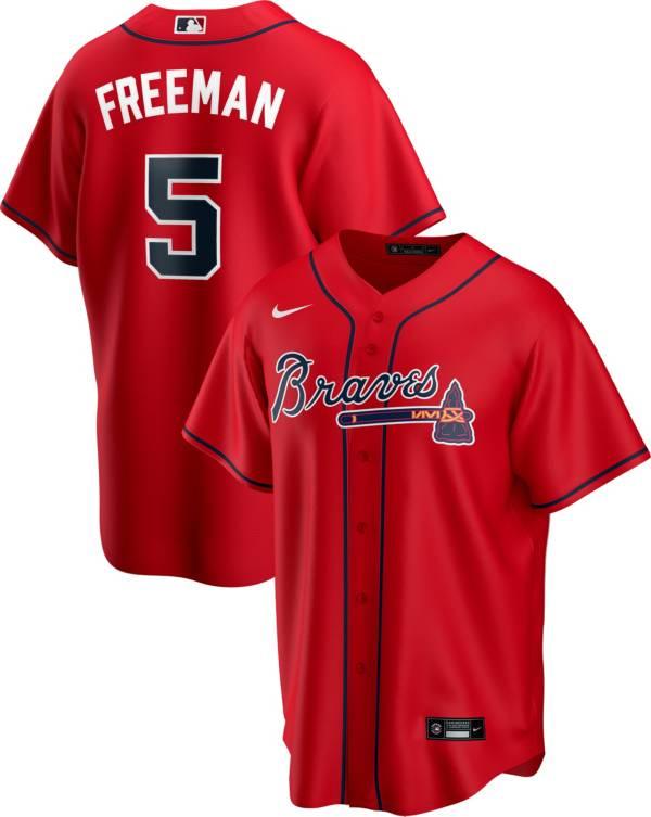 Nike Men's Replica Atlanta Braves Freddie Freeman #5 Red Cool Base Jersey product image
