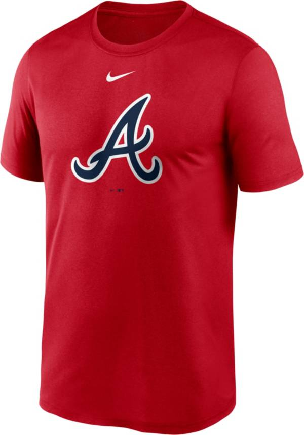 Nike Men's Atlanta Braves Red Large Logo Legend Dri-FIT T-Shirt product image