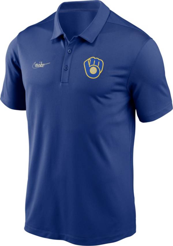 Nike Men's Milwaukee Brewers Blue Cooperstown Vintage Dri-FIT Franchise Polo product image