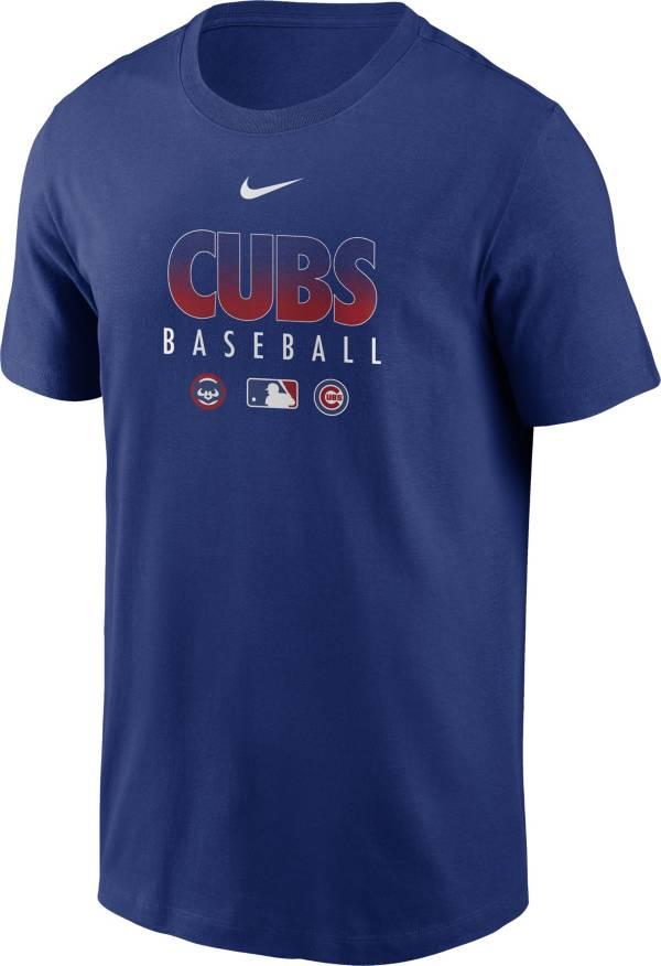 Nike Men's Chicago Cubs Blue Dri-FIT Baseball T-Shirt product image