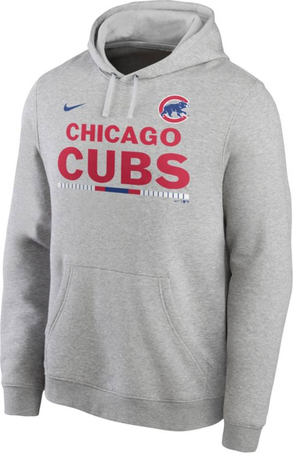 Nike Men's Chicago Cubs Grey Color Bar Club Pullover Hoodie product image