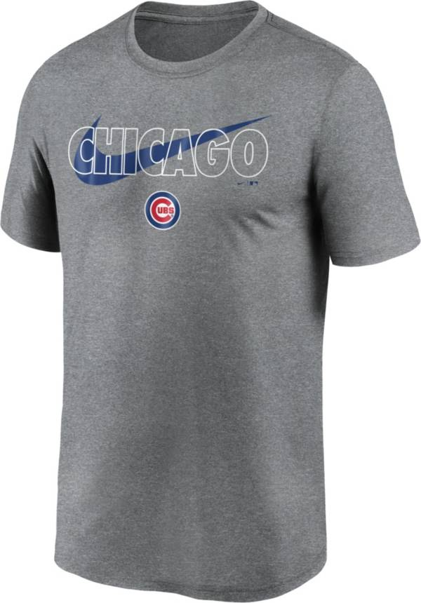 Nike Men's Chicago Cubs Legend Heather Grey Dri-FIT T-Shirt product image