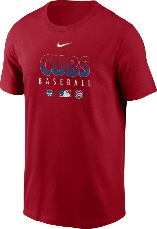 Nike Men's Chicago Cubs Red Dri-FIT Baseball T-Shirt product image