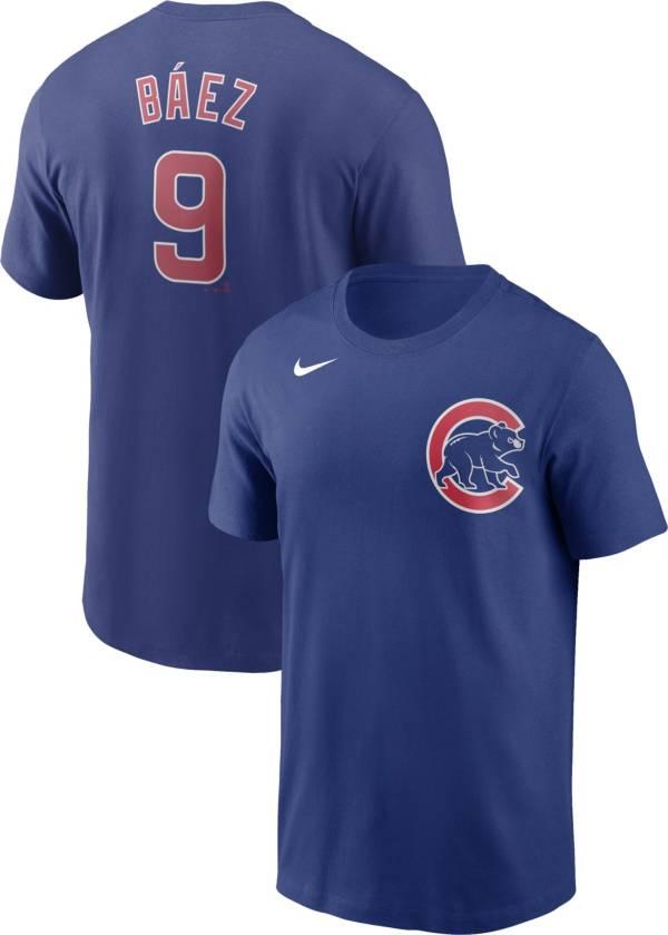 Nike Men's Chicago Cubs Javier Baez #9 Blue T-Shirt product image