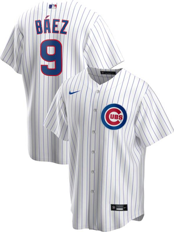 Nike Men's Replica Chicago Cubs Javier Baez #9 White Cool Base Jersey product image