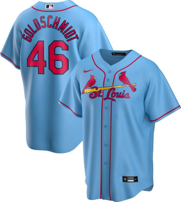 Nike Men's Replica St. Louis Cardinals Paul Goldschmidt #46 Blue Cool Base Jersey product image