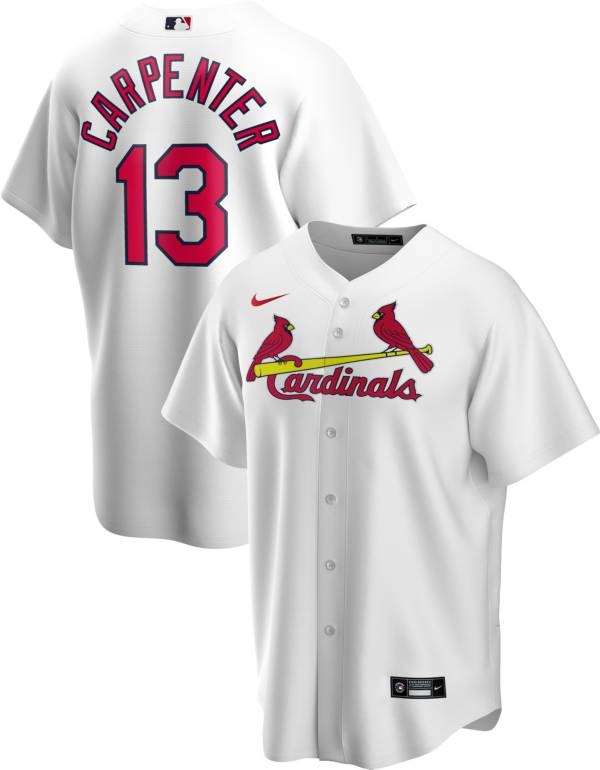 Nike Men's Replica St. Louis Cardinals Matt Carpenter #13 White Cool Base Jersey product image