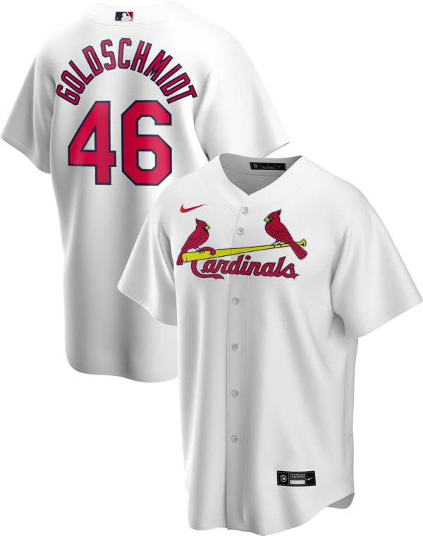 Nike Men's Replica St. Louis Cardinals Paul Goldschmidt #46 White Cool Base Jersey product image