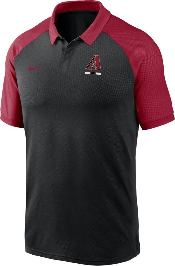 Nike Men's Arizona Diamondbacks Black Dri-FIT Legacy Raglan Polo product image