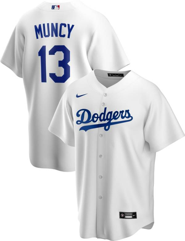 Nike Men's Replica Los Angeles Dodgers Max Muncy #13 White Cool Base Jersey product image