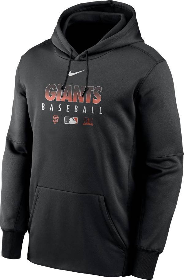 Nike Men's San Francisco Giants Black Dri-FIT Therma Pullover Hoodie product image