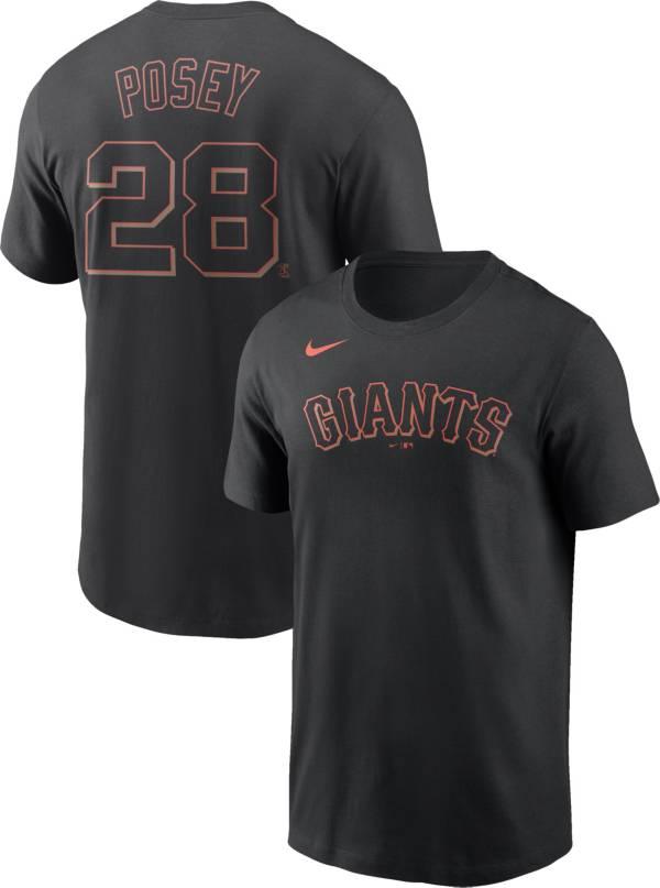 Nike Men's San Francisco Giants Buster Posey #28 Black T-Shirt product image