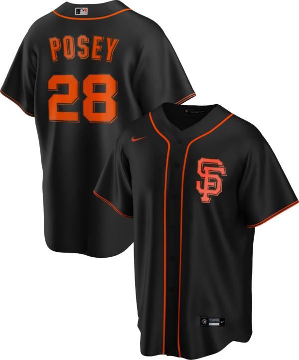 Nike Men's Replica San Francisco Giants Buster Posey #28 Black Cool Base Jersey product image