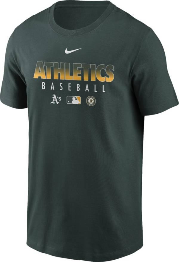 Nike Men's Oakland Athletics Green Dri-FIT Baseball T-Shirt product image