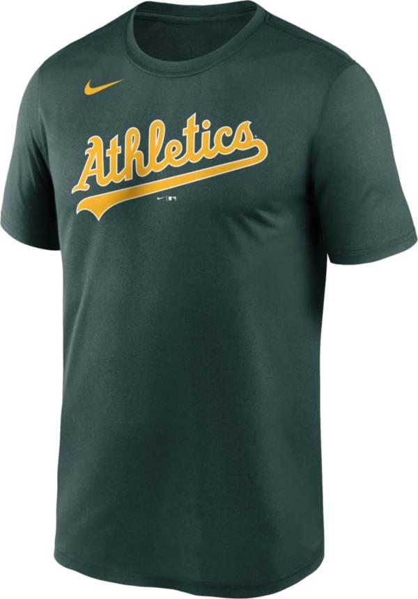 Nike Men's Oakland Athletics Green Wordmark Legend Dri-FIT T-Shirt product image