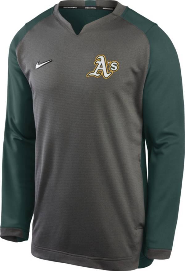Nike Men's Oakland Athletics Grey Dri-FIT Thermal Crew T-Shirt product image