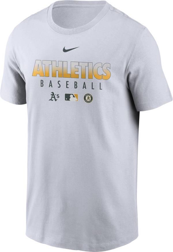 Nike Men's Oakland Athletics White Dri-FIT Baseball T-Shirt product image