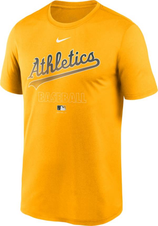 Nike Men's Oakland Athletics Yellow Authentic Collection Legend Dri-FIT T-Shirt product image