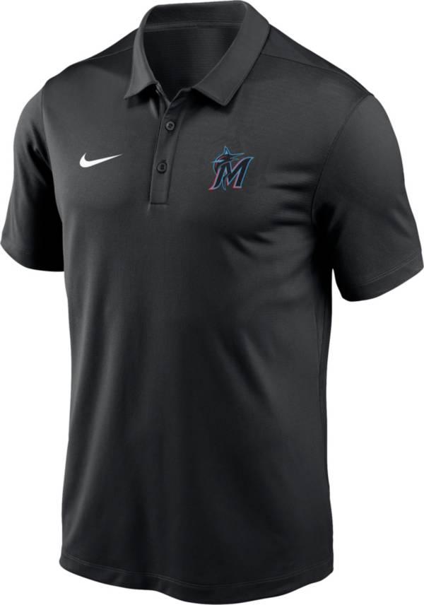 Nike Men's Miami Marlins Black Franchise Polo product image