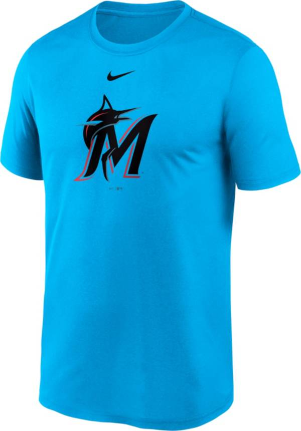 Nike Men's Miami Marlins Blue Large Logo Legend Dri-FIT T-Shirt product image